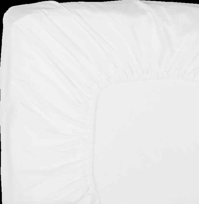 NOORA Spannbettlaken 160x220 white